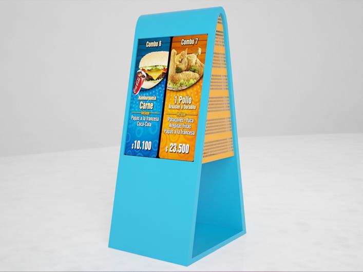 pantalla publicitaria restaurantes